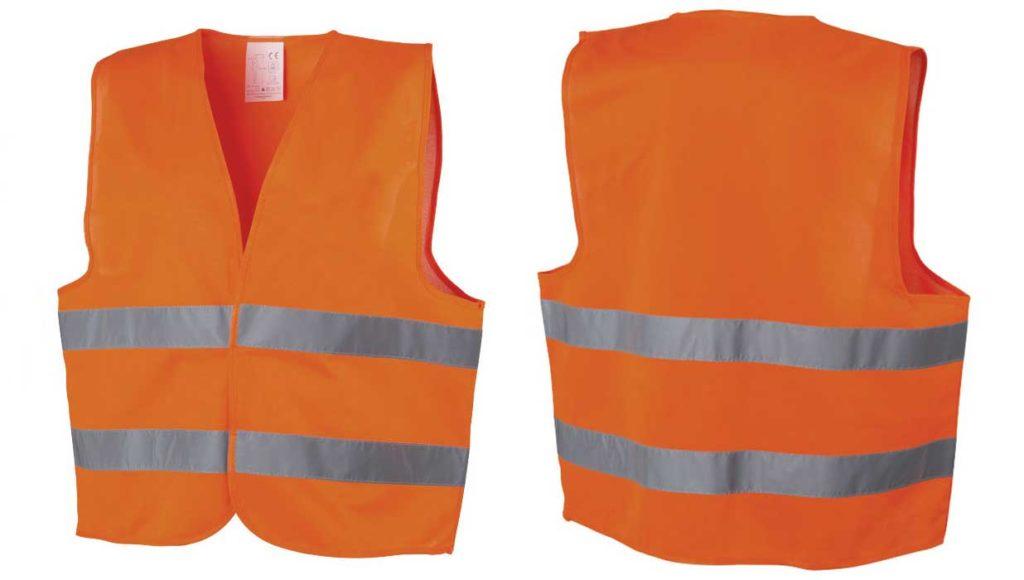 Gilet orange (recto-verso)