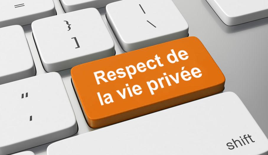 Respect de la vie privée